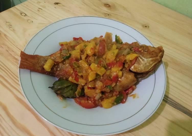 Ikan Nila sambal nanas