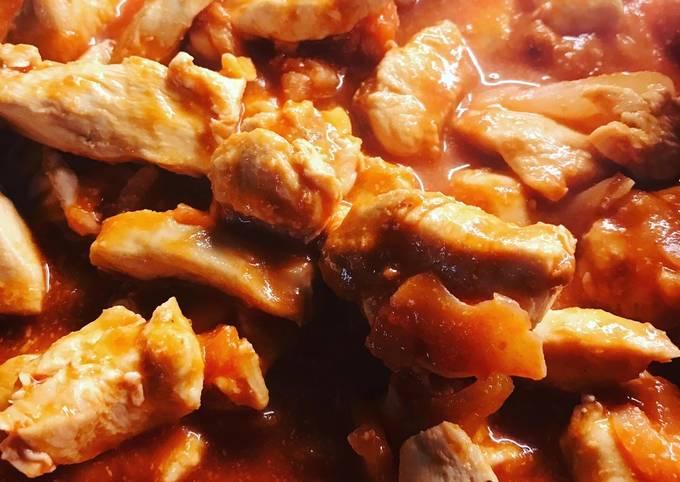 Poulet sauce tomate 🥫 et peanut butter 🥜