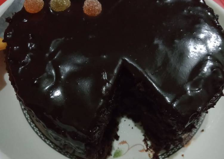 Recipe of Favorite 3 ingredient cake in sauce..with potatoes triangles full meal