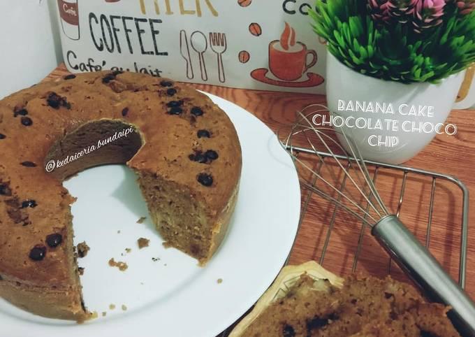 Banana Cake chocolate chip panggang #PisangGaul