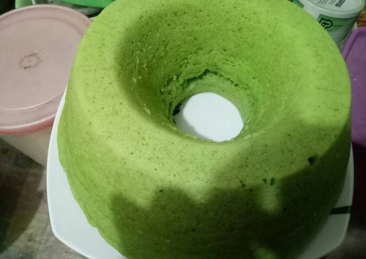 Bolu pisang pandan kukus no baking powder