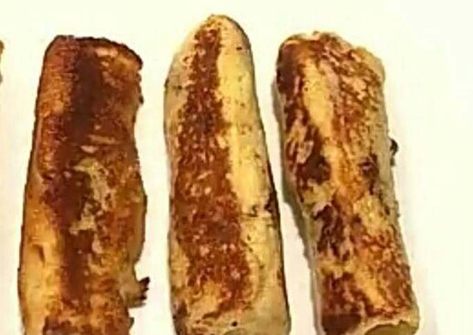 Yummy banana roll snacks