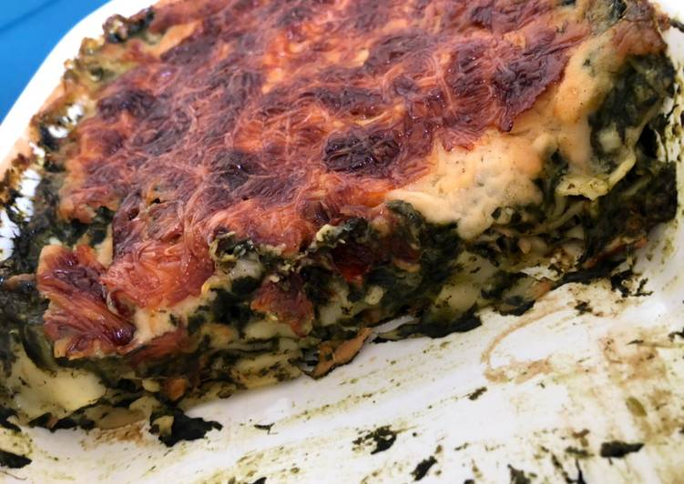 Recette de Fait maison Lasagne saumon épinard