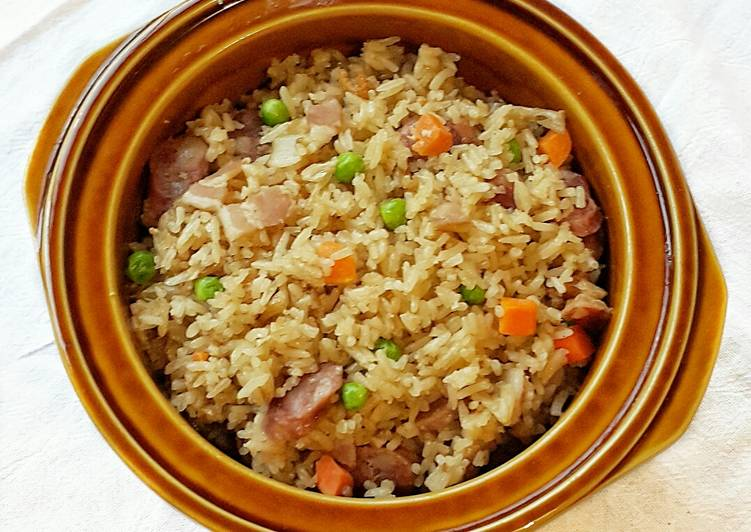 Claypot Rice in Rice Cooker