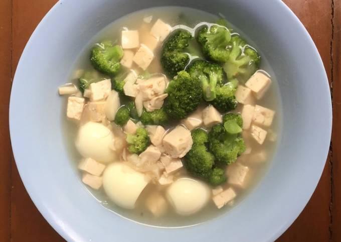 Makanan Anak Sup Puyuh Tahu Brokoli