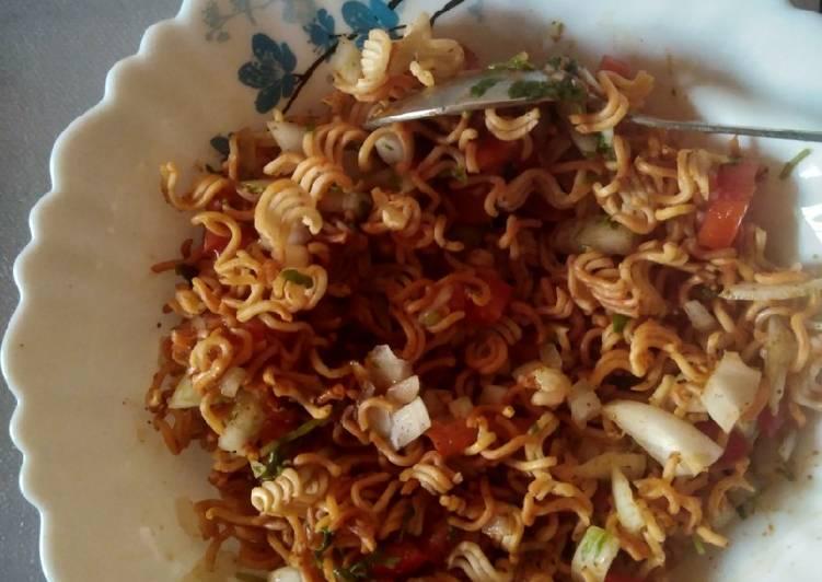 Maggi bhel snack recipe