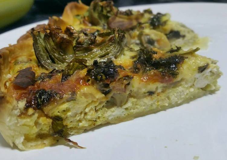 Step-by-Step Guide to Prepare Super Quick Homemade Chicken, mushroom and artichoke quiche