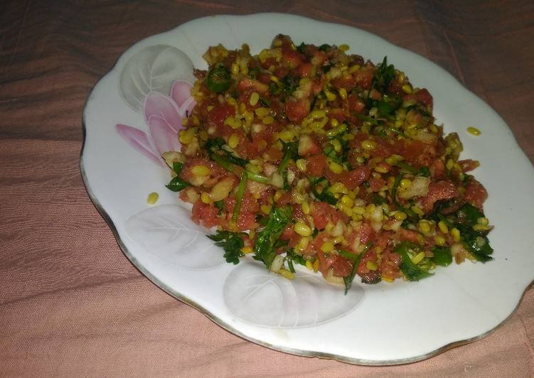 Old Fashioned Dinner Easy Winter Carrot and yellow moong dal salad
