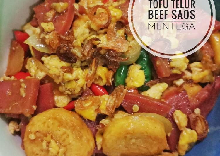 Tofu Telur Beef Saos Mentega