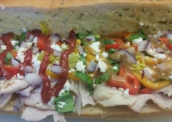Easiest Way to Recipe Yummy Greek Turkey Sub