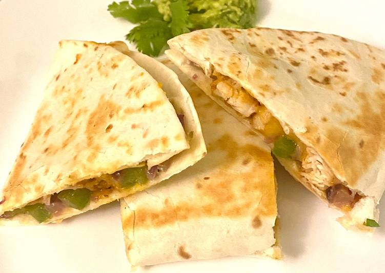 Recipe of Any-night-of-the-week Desi style chicken quesadilas