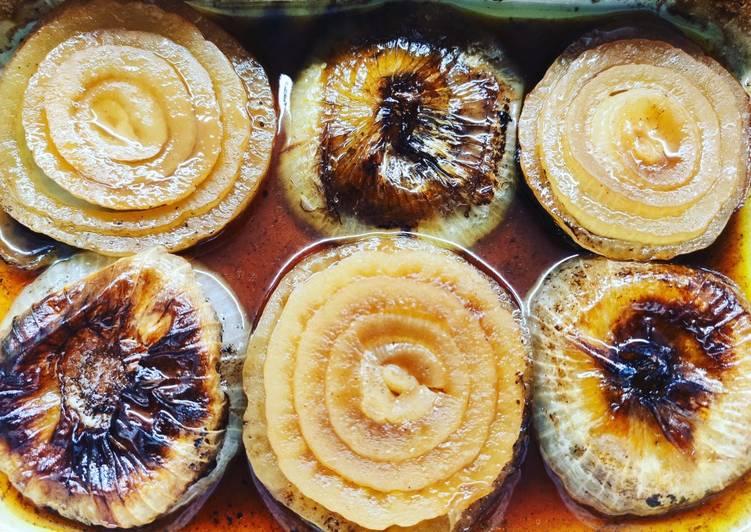 Ricetta Cipolle glassate al balsamico al forno