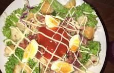 Salad thịt trứng và kewpie