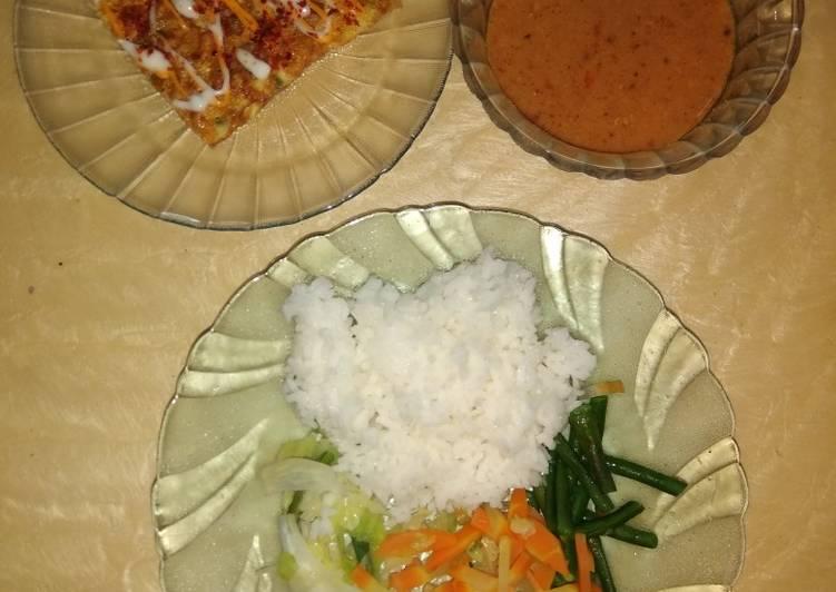 Resep Nasi pecel & omlete Yang Gampang Bikin Nagih