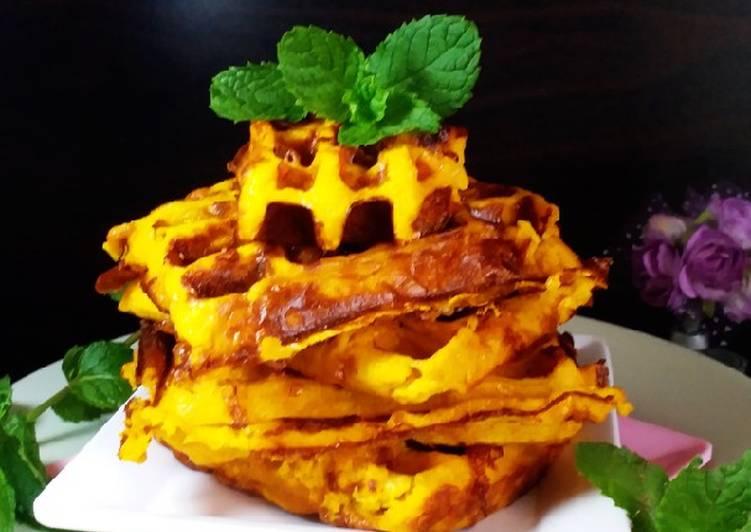 Waffle Labu Kuning