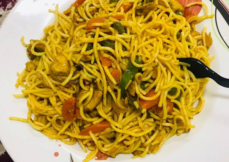 Instant Ching's Hakka noodles  #dormfood