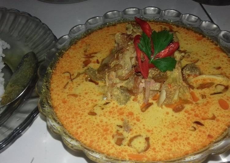 Gulai nangka + daging