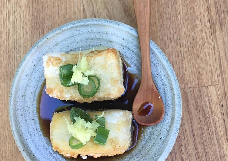 Vegan Agedashi Tofu 🌱 - Laurie G Edwards