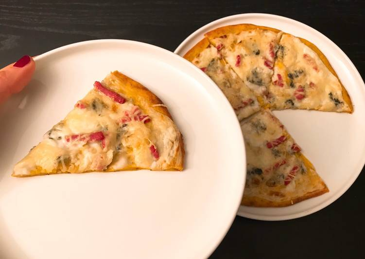 Recette Délicieux Pâte à pizza légère à la butternut