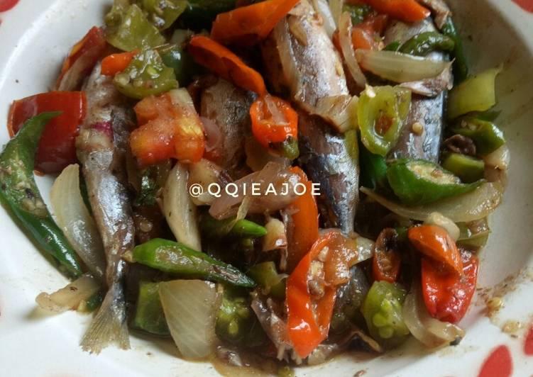 Tumis Ikan Cue Cabe Warna-Warni