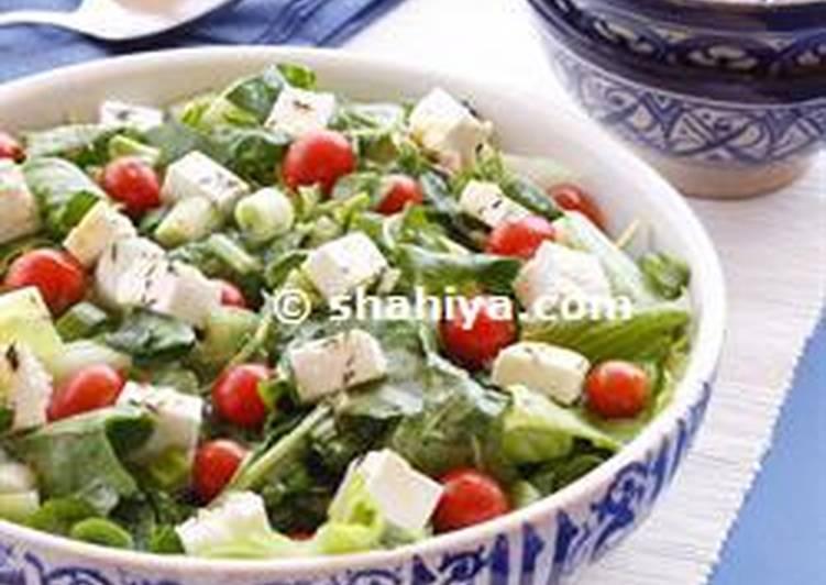 Rocket leaves & feta cheese salad