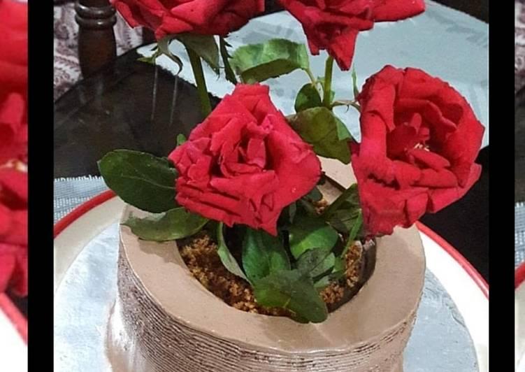 Recipe of Favorite Flower pot cake