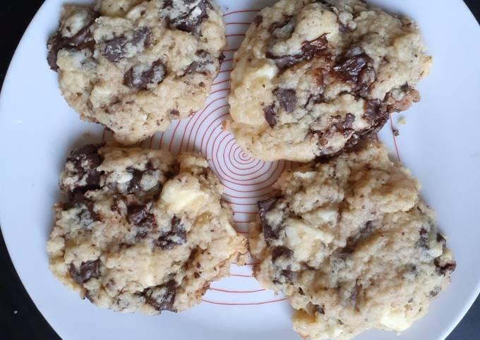 """Chewy cookies"" deux chocolats"