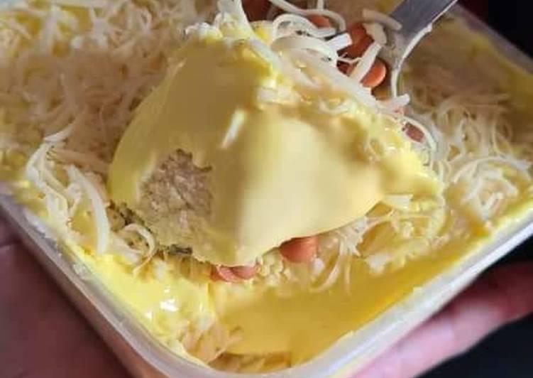Banana Milk cheese leleh (cheese leleh susu pisang) - resepipouler.com