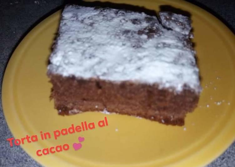 Ricetta Torta al cacao (cottura in padella)