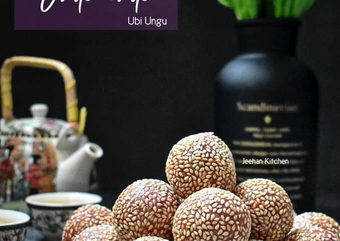 Onde-onde Keledek Ungu/Sesame ball/Kuih Bom