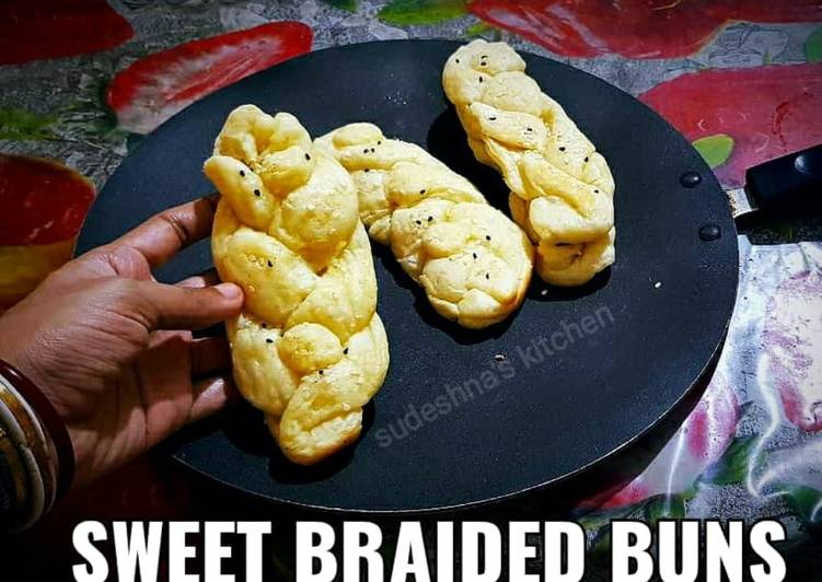 Easiest Way to Make Perfect Sweet Braided Buns