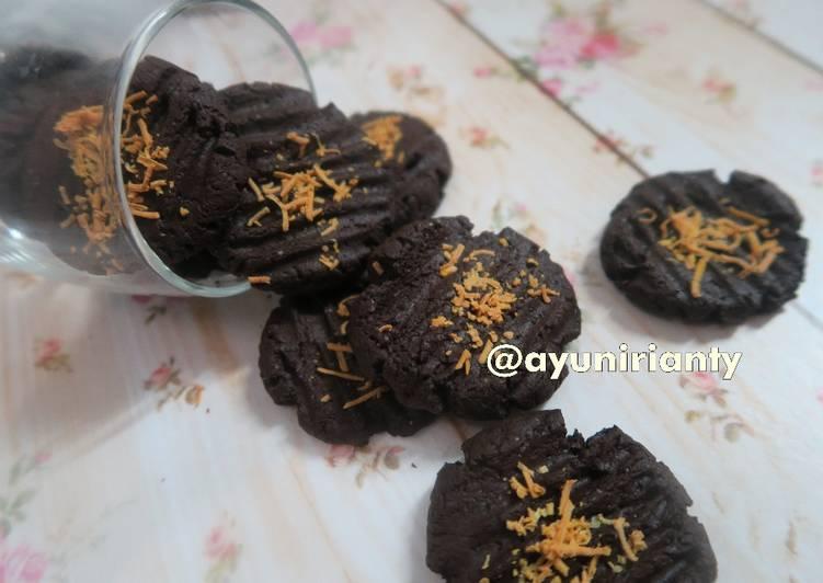 Cookies Coklat Eggless 5 bahan