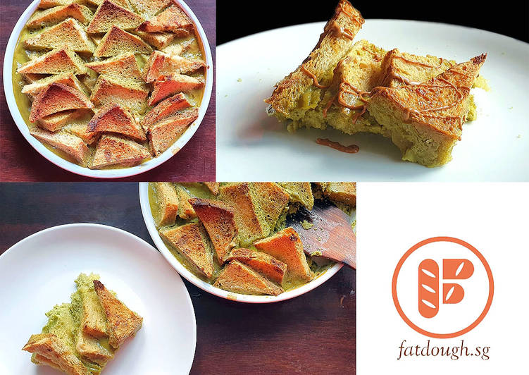 Matcha Bread & Butter Pudding - Laurie G Edwards