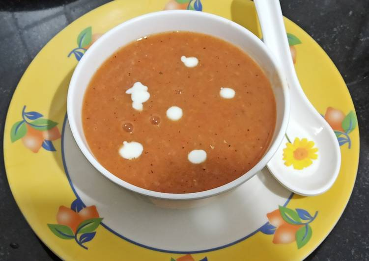 Recipe of Favorite Carrot and lentil soup