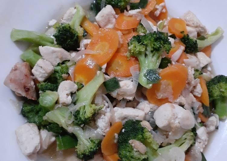 Capcay Brokoli Tahu
