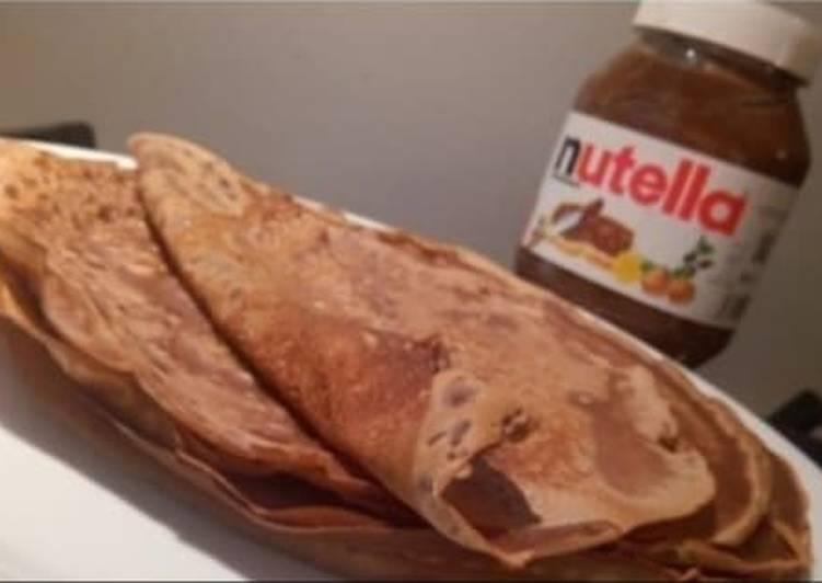 Recette Savoureux Crêpes au Nutella