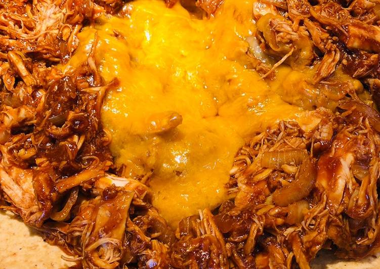 Easiest Way to Cook Tasty BBQ Shredded Chicken Tortilla Snack