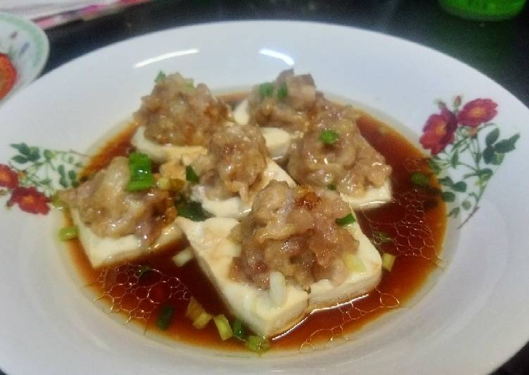 Easiest Way to Cook Delicious Toufu chicken steamed