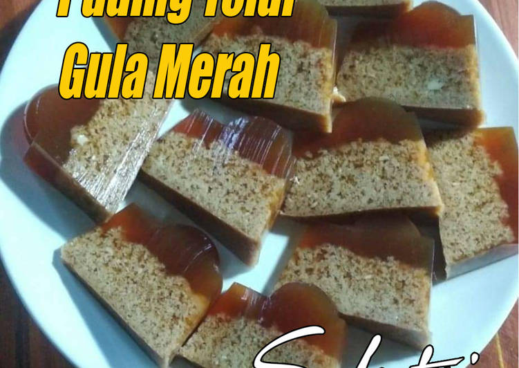 Puding lumut gula merah