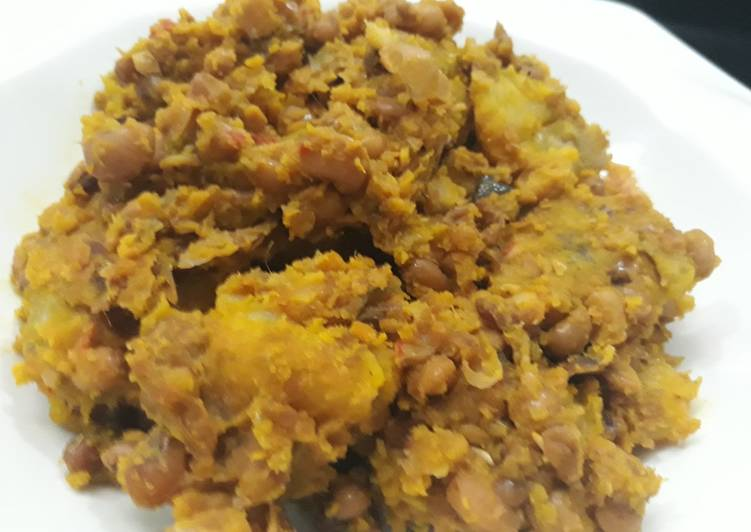 Porriage beans and plantain