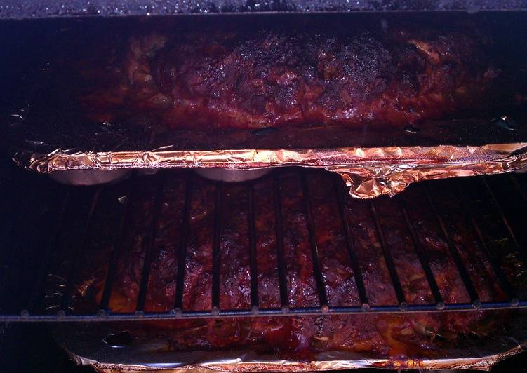 Recipe: Yummy Marks smoked barbecue meatloaf