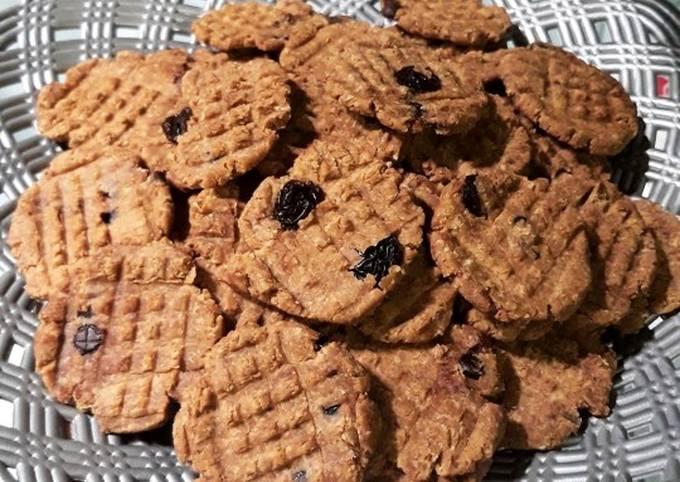 Raisin oat cookies (diet)