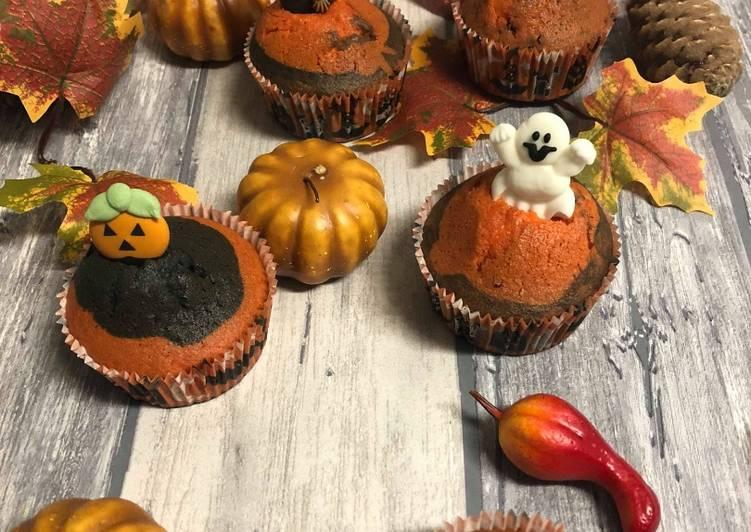 Cupcake nature bi-colore d'halloween