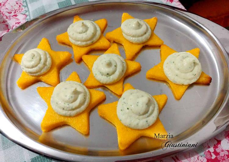 How to Make Yummy Stelle di polenta con mousse di baccalà