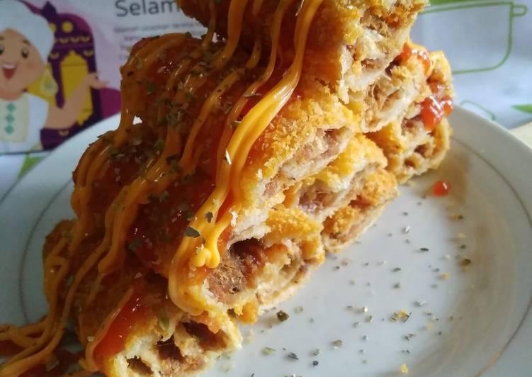 Sandwich Gulung Abon Crispy