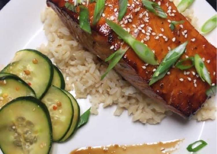 Simple Way to Prepare Homemade Sake Teriyaki Salmon