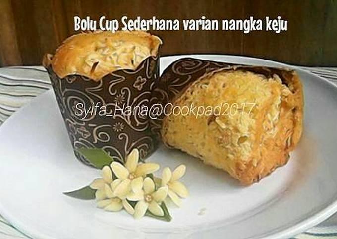 Bolu Cup Sederhana varian nangka keju