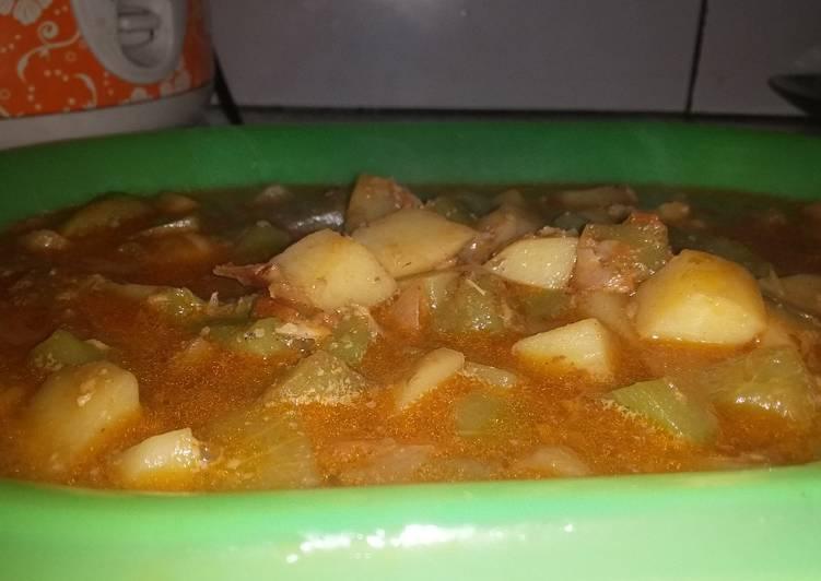 Sayur kentang+labu siam