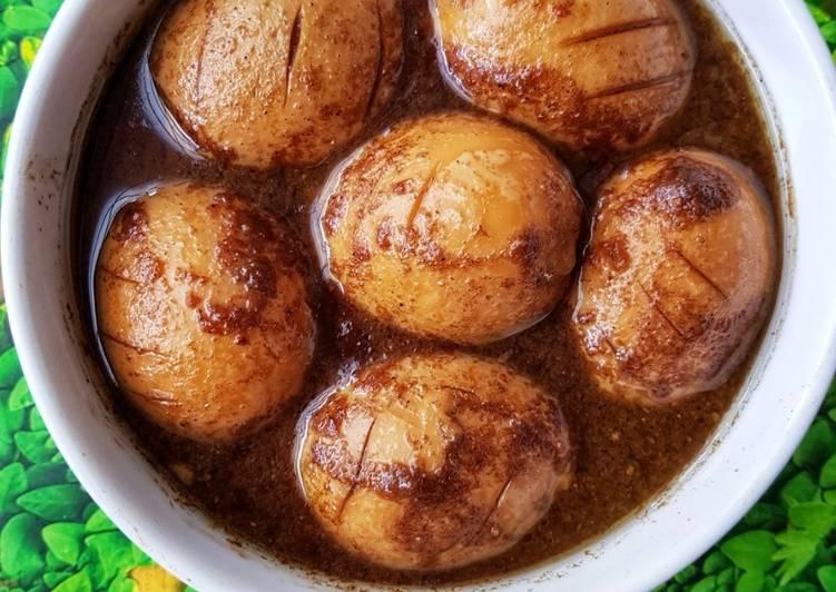 Langkah Mudah Untuk Menyiapkan Telur Kecap Bumbu Ngohiong Lezat Sekali Resep Masakanku