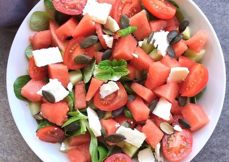 Salade 🥗 d'été. Encore mâche et fêta pour finir le reste #antigaspillagealimentaire